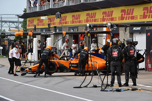 Fernando Alonso McLaren retires Canadian GP 2018