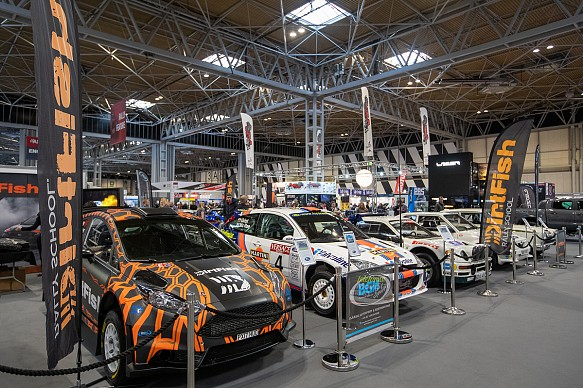 DirtFish rallying stand Autosport International