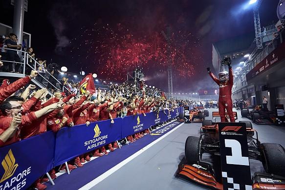 Sebastian Vettel Ferrari Singapore Grand Prix 2019