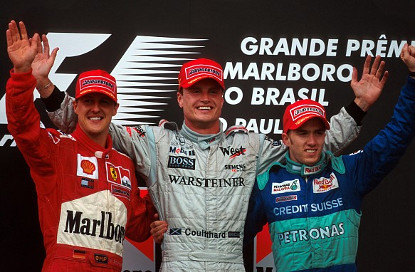 2001 Brazilian Grand Prix podium