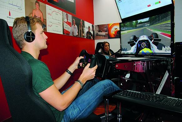 Marcus Ericsson Formula Medicine \'simulator\'