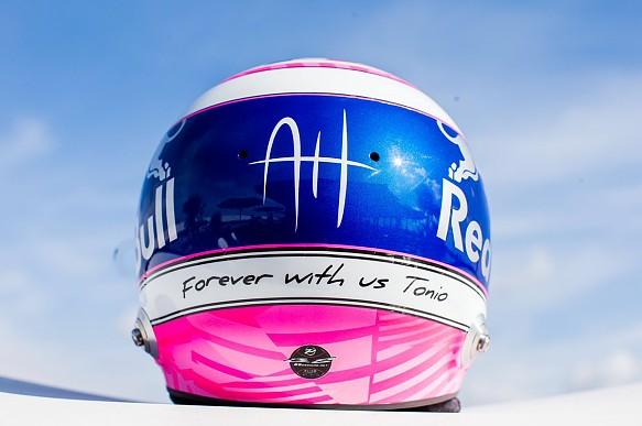Gasly Hubert helmet tribute