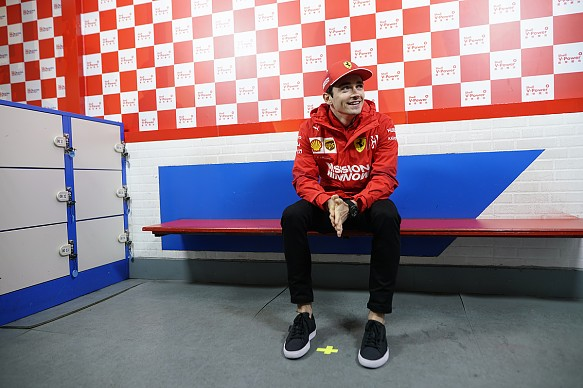 Charles Leclerc Shell event Getty