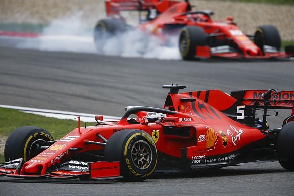 Vettel Leclerc F1 2019 Ferrari Chinese GP