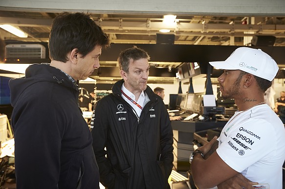 Toto Wolff James Allison Lewis Hamilton