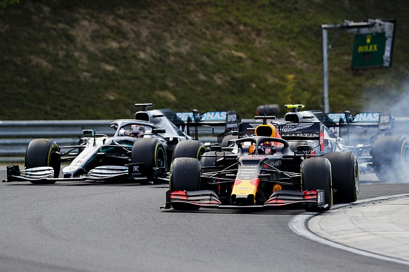 Verstappen Hamilton Hungarian Grand Prix 2019