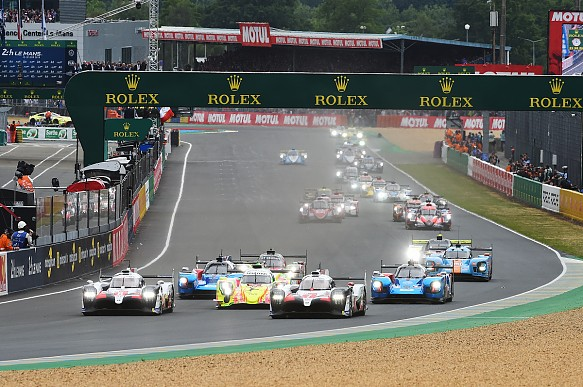 Toyota Le Mans 24 Hours start 2019