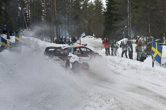 Ott Tanak Toyota WRC Rally Sweden 2019