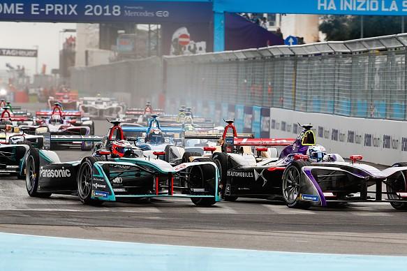 Mitch Evans Jaguar Formula E Rome 2018