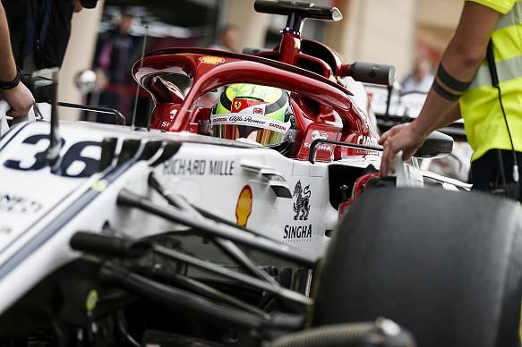 Mick Schumacher Alfa Romeo Bahrain F1 testing 2019