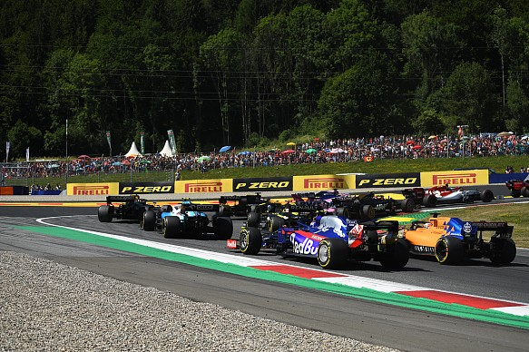 Austrian GP F1 race start 2019