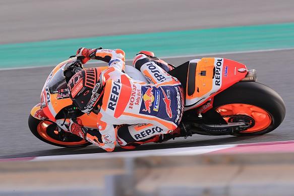 Marc Marquez Honda MotoGP Qatar testing 2018