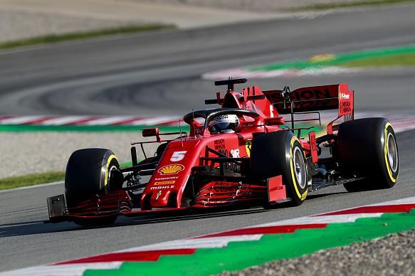 Sebastian Vettel Ferrari 2020 Barcelona F1 test
