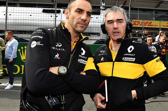 Cyril Abiteboul Nick Chester Renault F1 2018