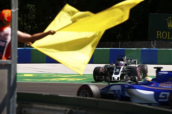 Ericsson Grosjean Hungarian Grand Prix 2017