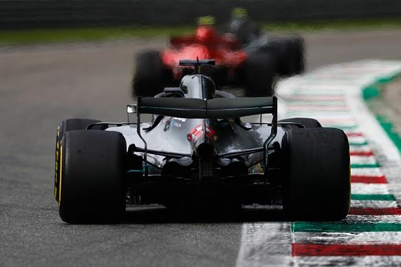 Ferrari Mercedes Italian GP 2018