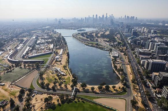 Australian GP aerial view 2019