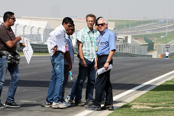 Charlie Whiting India F1 track inspection
