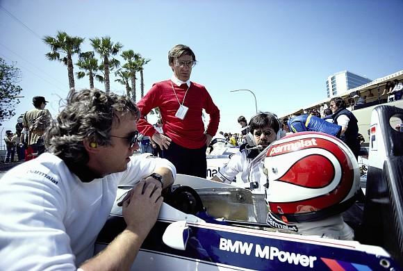 Charlie Whiting Bernie Ecclestone Nelson Piquet 1983