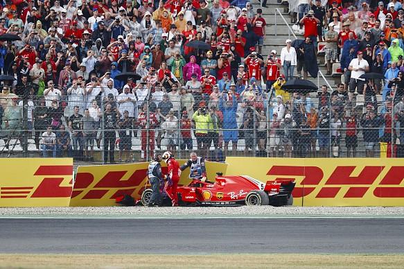 Sebastian Vettel Ferrari F1 crash Germany 2018