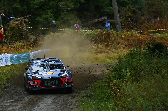 Thierry Neuville Hyundai WRC Rally GB 2018