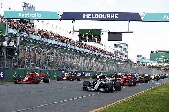 F1 start 2018 Australia Melbourne