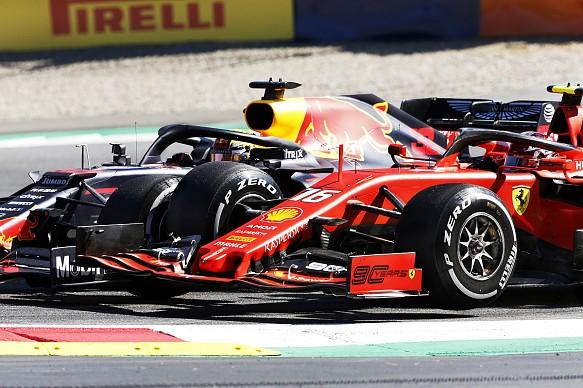 Verstappen Leclerc Ferrari Red Bull Austrian Grand Prix 2019