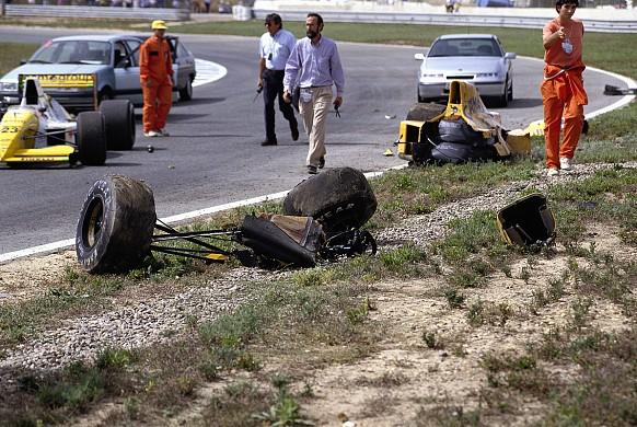 Martin Donnelly crash Jerez 1990