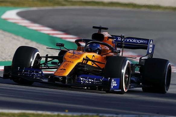 Carlos Sainz Jr McLaren Barcelona F1 testing 2019