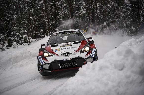 Jari-Matti Latvala Toyota Yaris WRC Rally Sweden 2018
