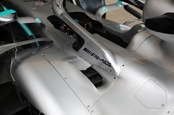 Mercedes cooling British Grand Prix 2019 Piola