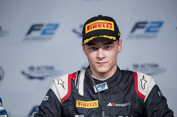 Artem Markelov Russian Time F2 Abu Dhabi 2017