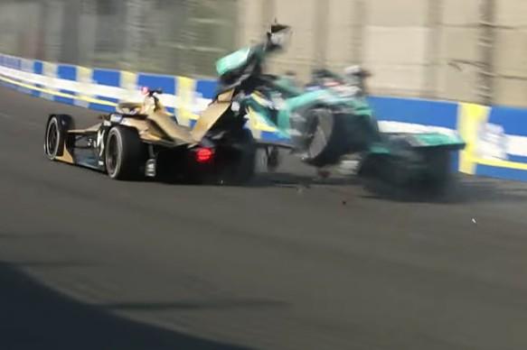 Jean-Eric Vergne Nelson Piquet Jr crash Mexico City Formula E 2019