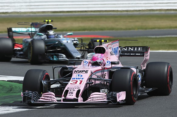 Ocon Bottas Force India Mercedes F1 2017