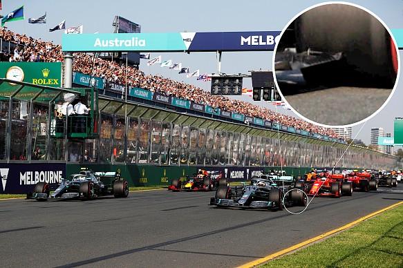 Lewis Hamilton floor damage