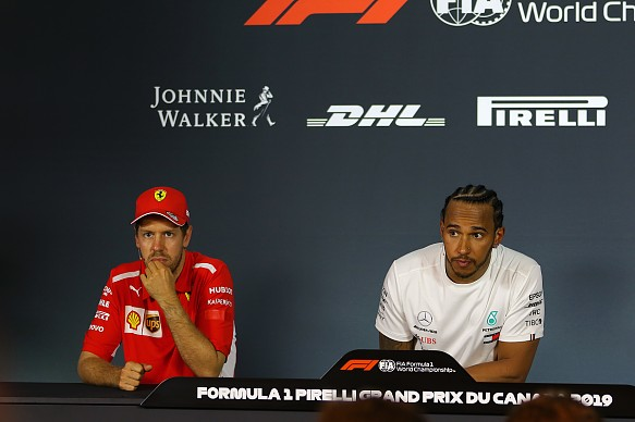 Sebastian Vettel Lewis Hamilton Canadian Grand Prix press conference