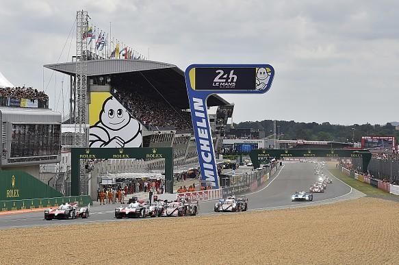 Le Mans race start 2018