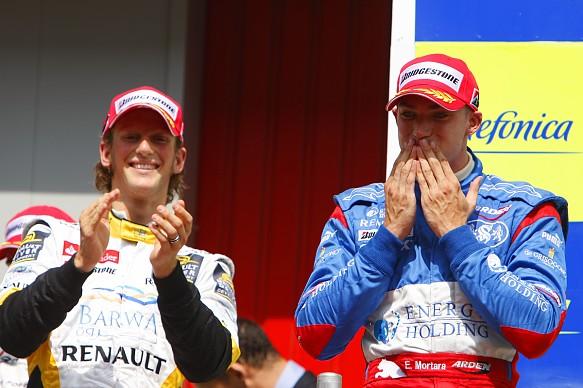Edoardo Mortara Romain Grosjean 2009 GP2 Barcelona