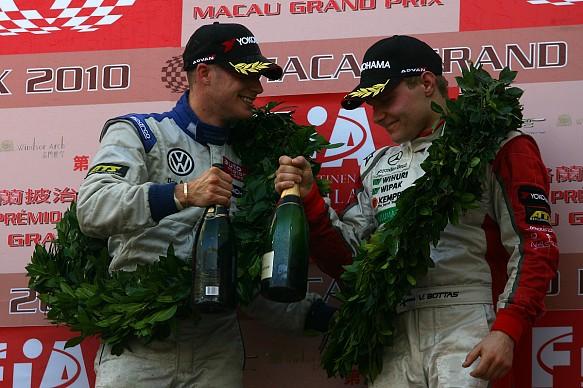Edoardo Mortara Valtteri Bottas 2010 Macau GP