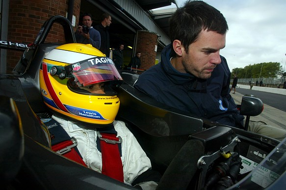 Marc Hynes Lewis Hamilton 2003 British Formula 3 Brands Hatch