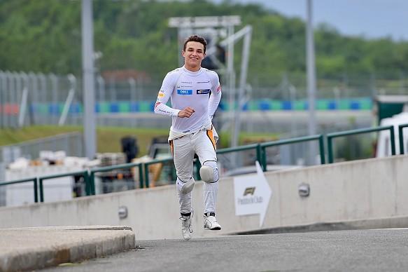 Lando Norris McLaren 2018 Hungaroring Young Driver Test