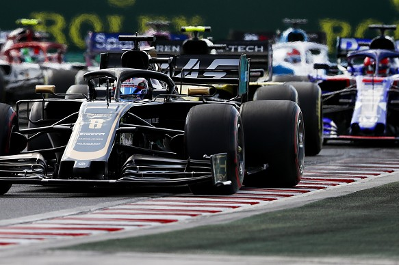 Romain Grosjean Haas Hungarian Grand Prix 2019 start