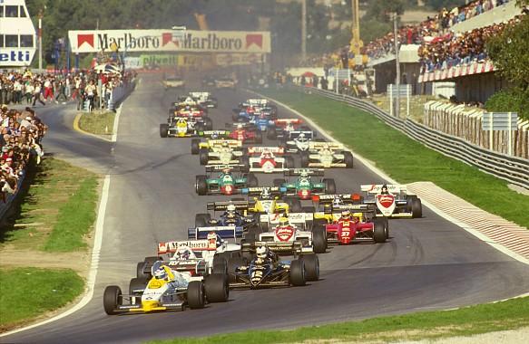 1984 Portuguese Grand Prix start