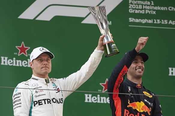 Valtteri Bottas and Daniel Ricciardo