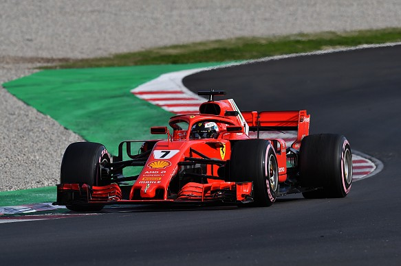 Kimi Raikkonen Ferrari F1 testing 2018