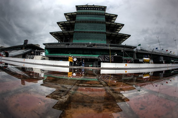 NASCAR Indianapolis wet qualifying 2018