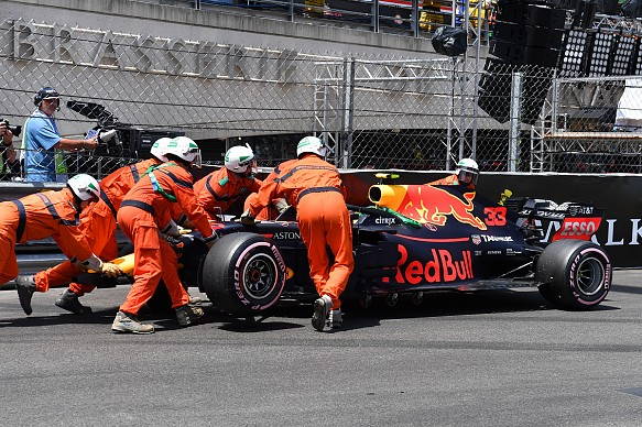 Max Verstappen 2018 Monaco Grand Prix FP3 crash