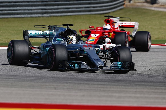 2017 US Grand Prix Lewis Hamilton Sebastien Vettel