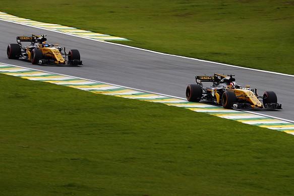 Hulkenberg Sainz Renault Brazilian Grand Prix 2017