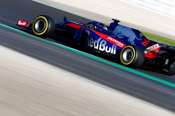 Brendon Hartley Tor Rosso F1 testing Barcelona 2018